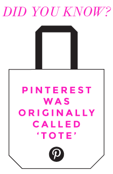 What was Pinterest originally called?